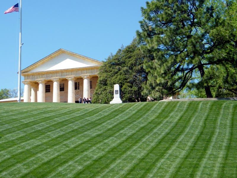 Cementerio de Arlington el monumento 2010 de la casa de Arlington imágenes de archivo libres de regalías