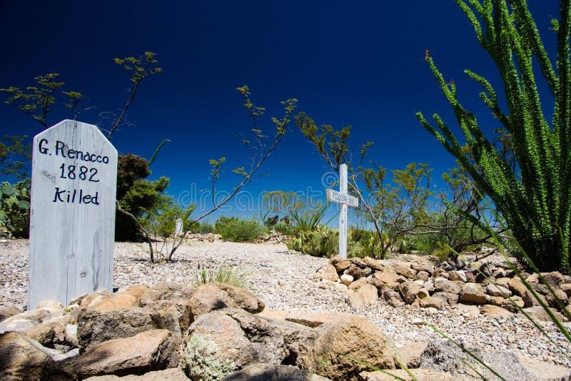 Cementerio de Boothill foto de archivo