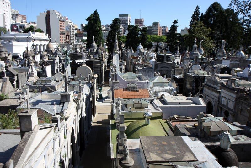 Cementerio de Buenos Aires de arriba foto de archivo