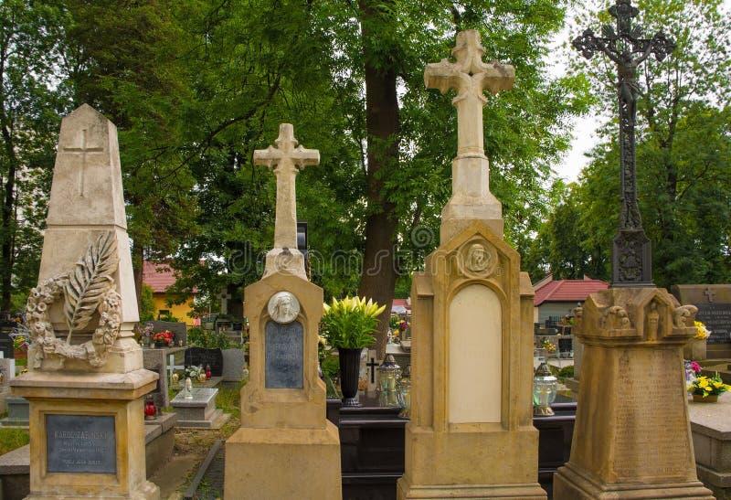 Cementerio de Cmentarz Mogilski imágenes de archivo libres de regalías