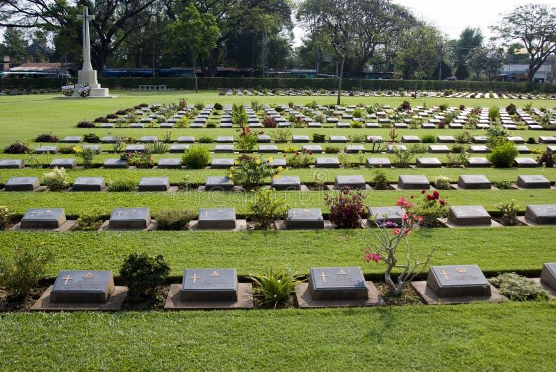 Cementerio de Kanchanaburi imagen de archivo libre de regalías