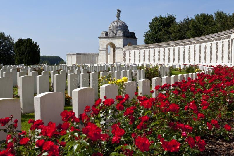 Cementerio de la choza de Tyne en Ypres fotos de archivo