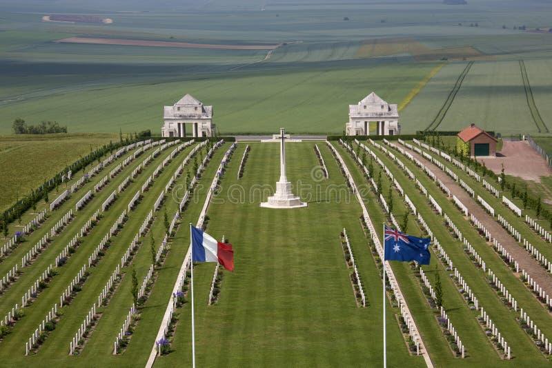 Cementerio de la guerra - el Somme - la Francia imagenes de archivo