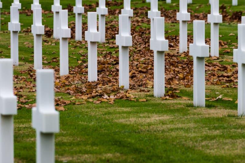 Cementerio de la Guerra Mundial del americano Segundo fotos de archivo libres de regalías