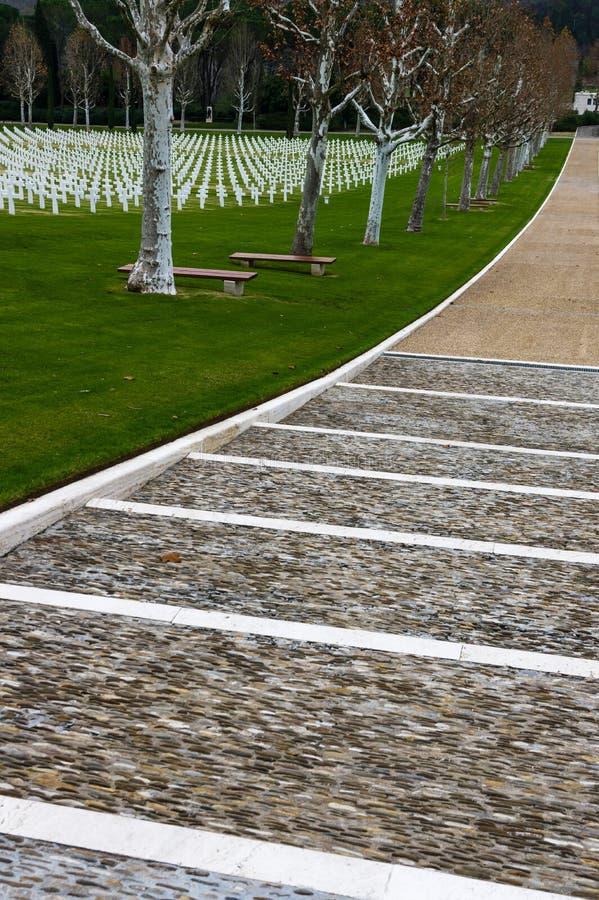 Cementerio de la Guerra Mundial del americano Segundo imagen de archivo