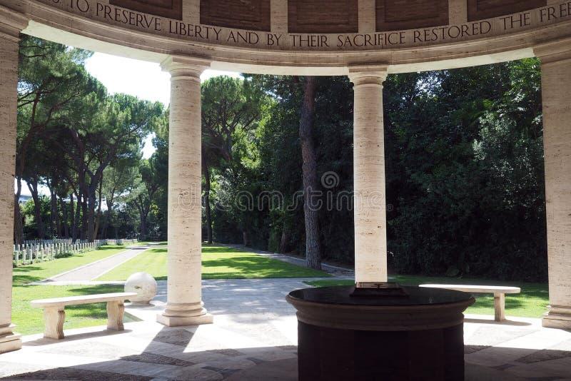 Cementerio de la guerra de Roma o cementerio de la Commonwealth en Roma imagen de archivo libre de regalías