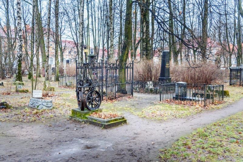 Cementerio de los cosacos de Alexander Nevsky Lavra St Petersburg, Rusia fotografía de archivo libre de regalías