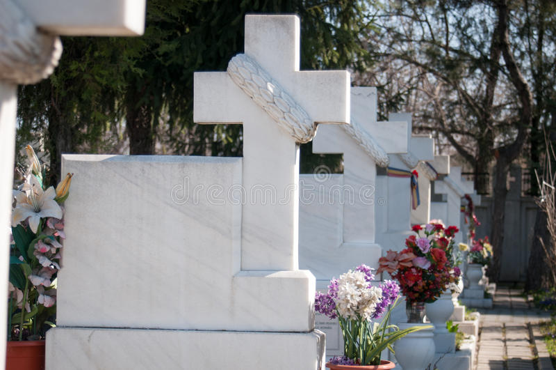Cementerio de los héroes foto de archivo