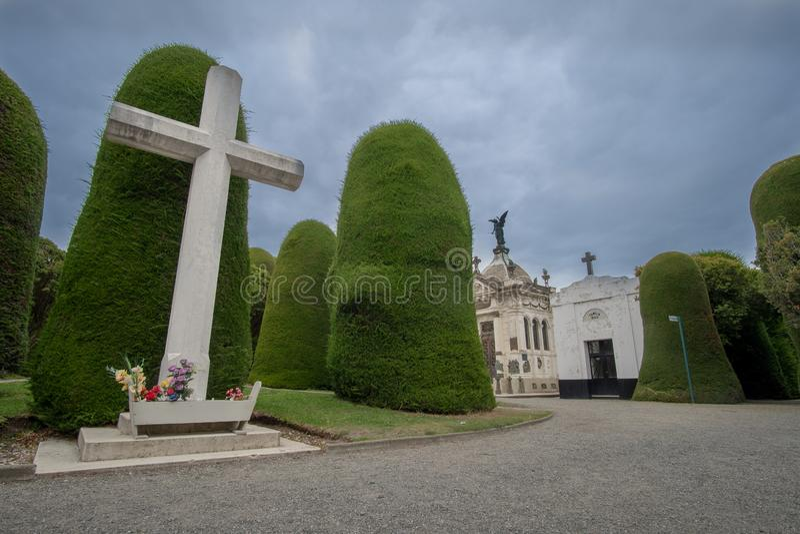 Cementerio de Punta Arenas imagen de archivo libre de regalías