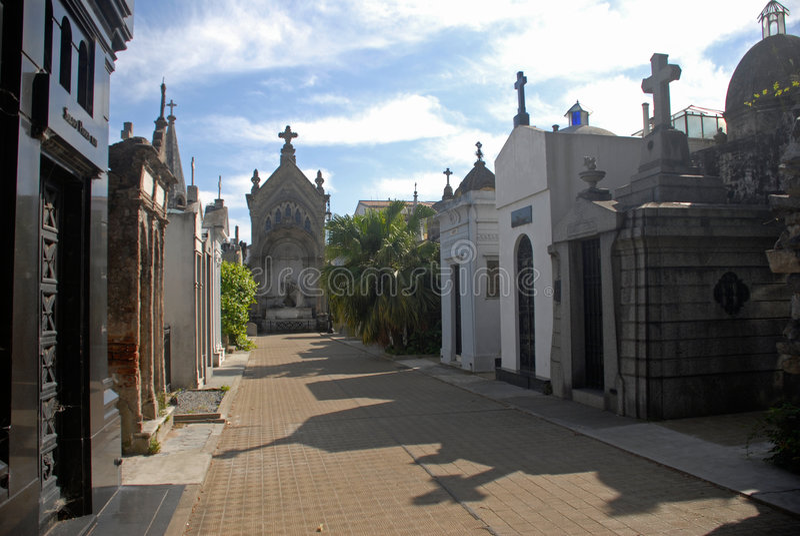 Cementerio de Recoleta, Buenos Aires. foto de archivo libre de regalías