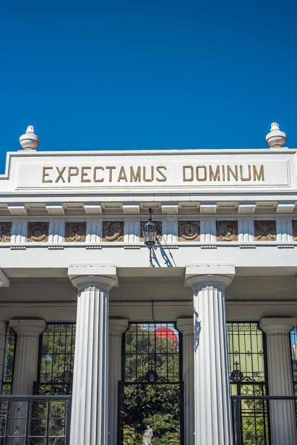 Cementerio de Recoleta del La en Buenos Aires, la Argentina. imagen de archivo