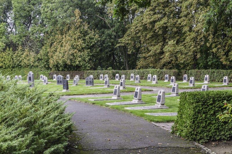 Cementerio de soldados soviéticos - Seelow imagen de archivo