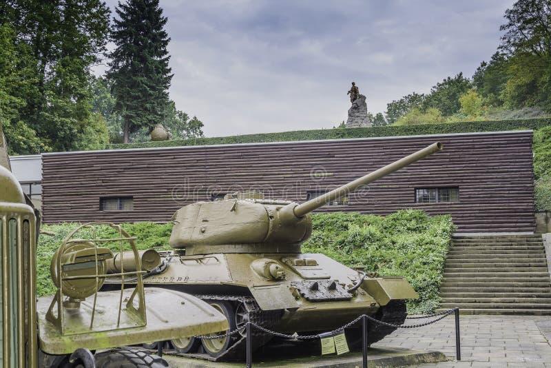 Cementerio de soldados soviéticos - Seelow fotografía de archivo