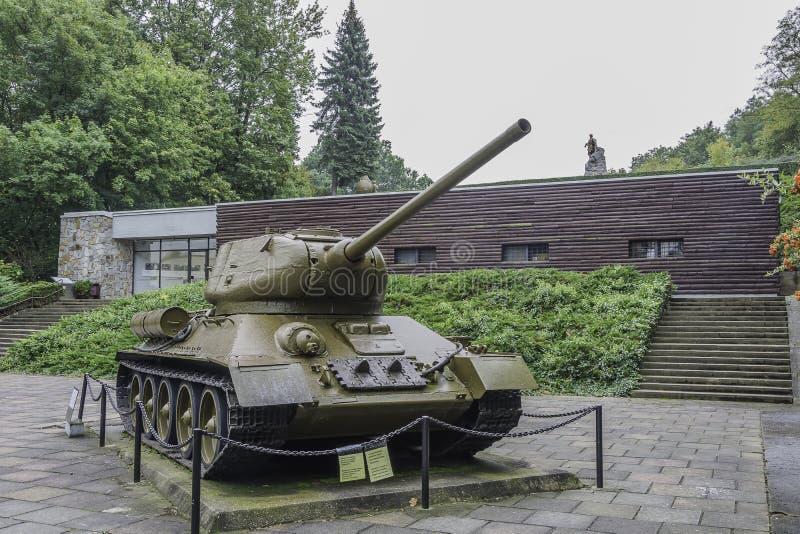 Cementerio de soldados soviéticos - Seelow foto de archivo