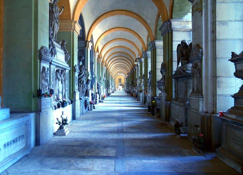 Cementerio de Staglieno, el reino del arte fotografía de archivo libre de regalías