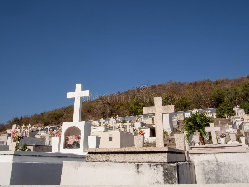 Cementerio del Caribe en Culebra Puerto Rico foto de archivo