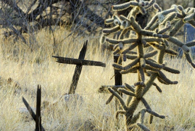 Cementerio del pueblo fantasma fotografía de archivo