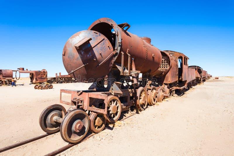 Cementerio del tren, Bolivia imagen de archivo