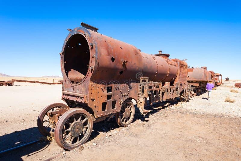 Cementerio del tren, Bolivia fotos de archivo