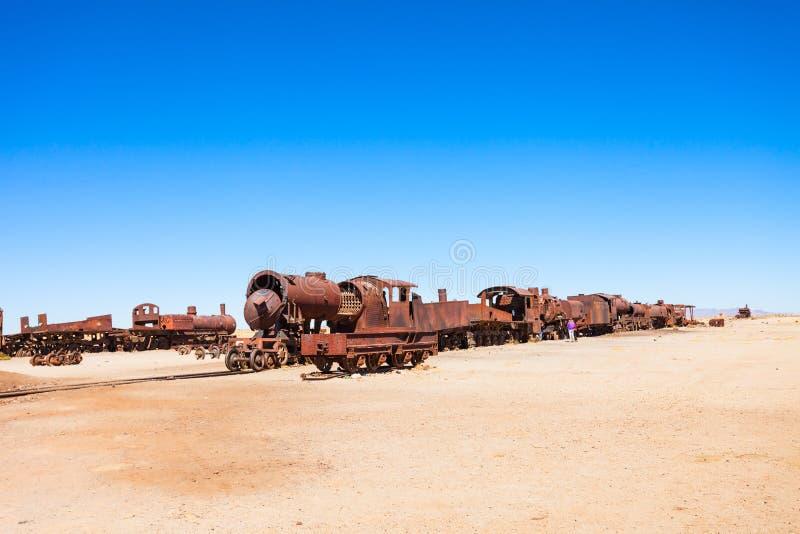 Cementerio del tren, Bolivia fotos de archivo libres de regalías