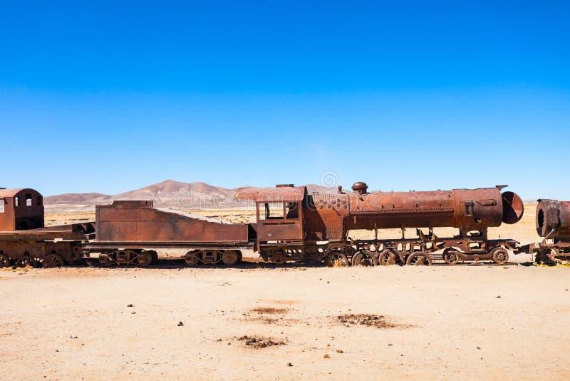 Cementerio del tren, Bolivia imágenes de archivo libres de regalías