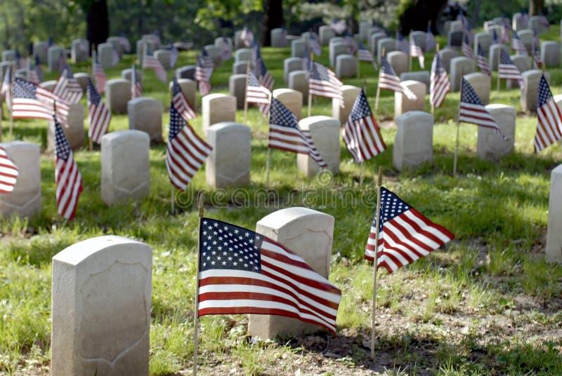 Cementerio del veterano fotografía de archivo