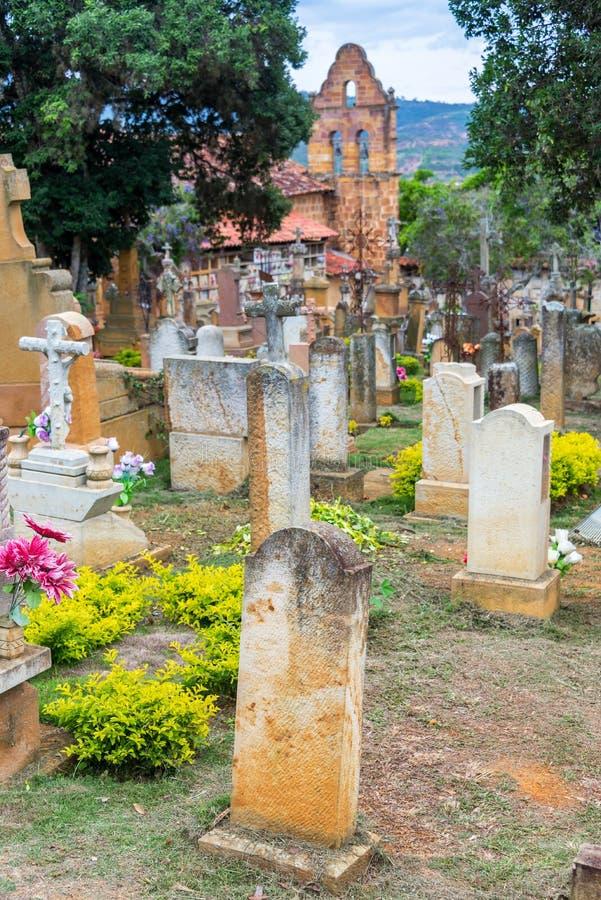 Cementerio en Barichara foto de archivo