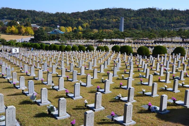 Cementerio en Corea del Sur fotos de archivo libres de regalías