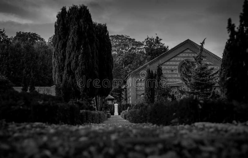 Cementerio en Dinamarca, Viborg fotografía de archivo
