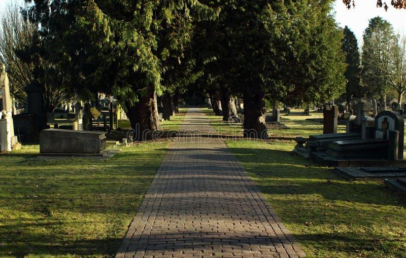 Cementerio en Geel, una pequeña ciudad en Flandes, Bélgica imágenes de archivo libres de regalías