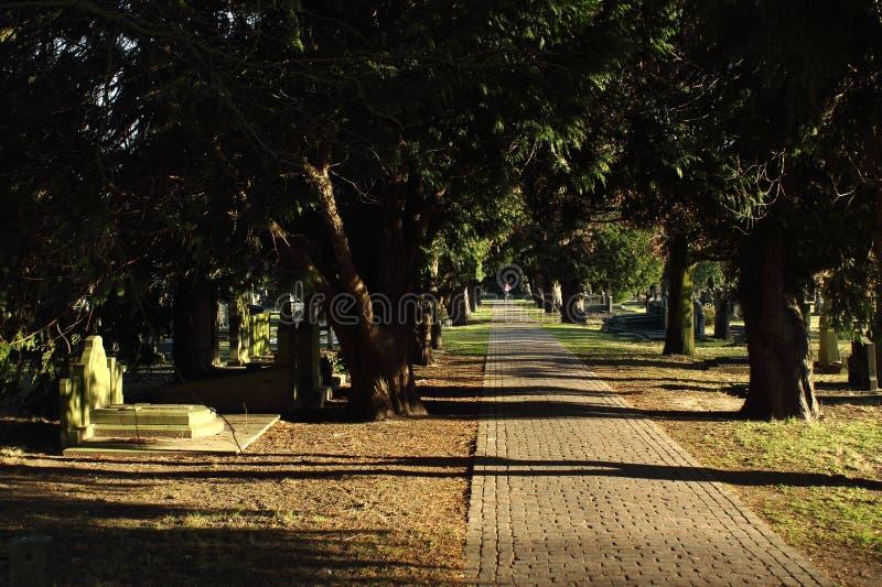 Cementerio en Geel, una peque?a ciudad en Flandes, B?lgica imágenes de archivo libres de regalías