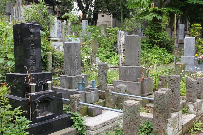 Cementerio en Tokio foto de archivo