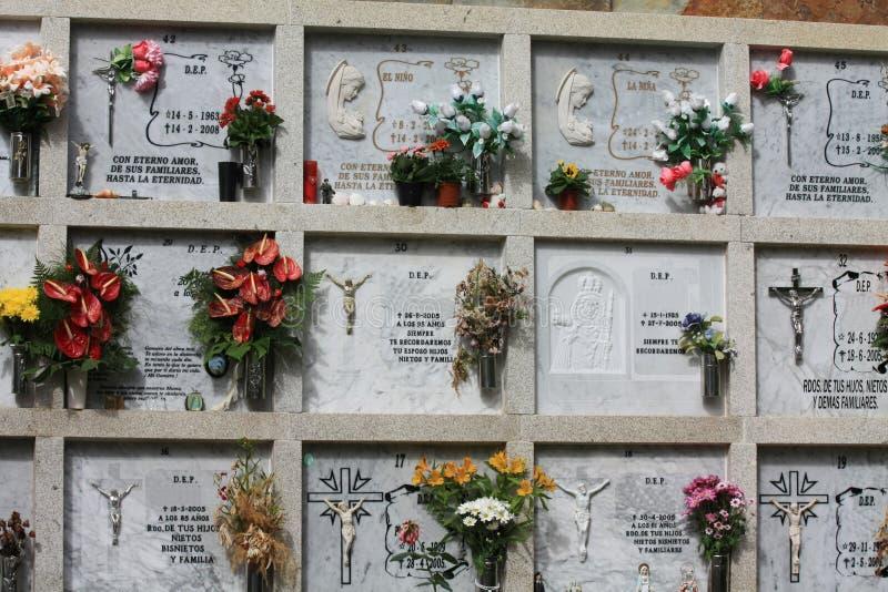 Cementerio español imagen de archivo libre de regalías