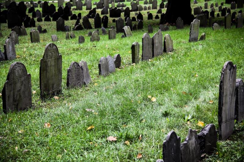 Cementerio histórico Boston fotografía de archivo