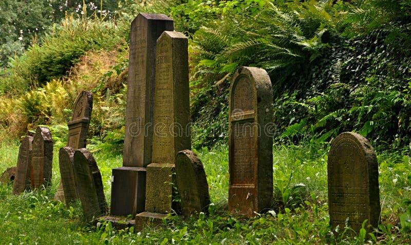 Cementerio judío abandonado fotografía de archivo