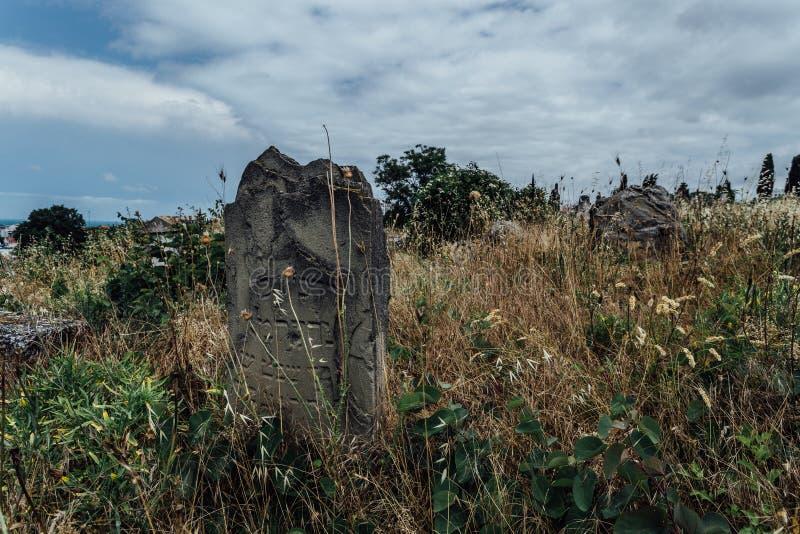 Cementerio judío abandonado viejo fotografía de archivo