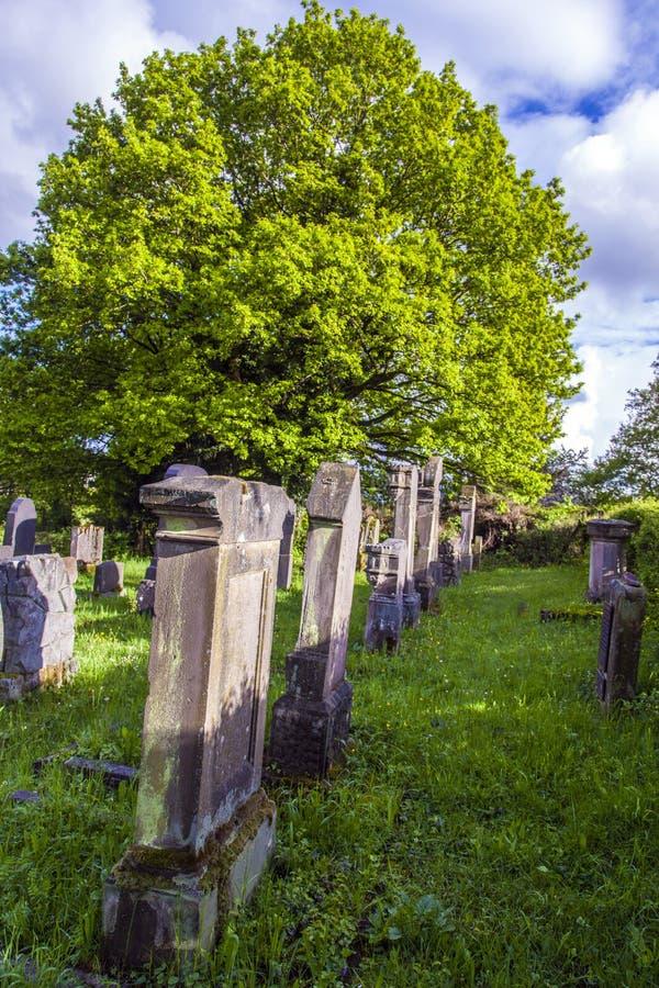 Cementerio judío en St. Wendel fotos de archivo libres de regalías