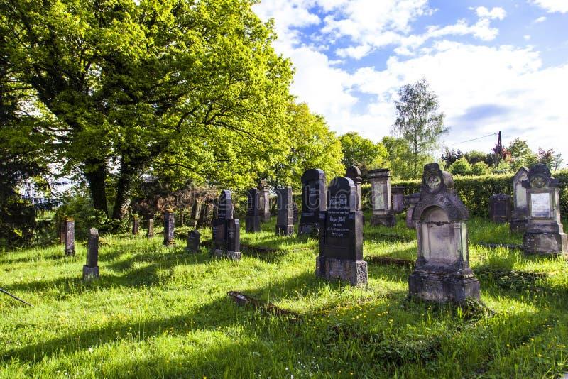 Cementerio judío en St. Wendel imagen de archivo
