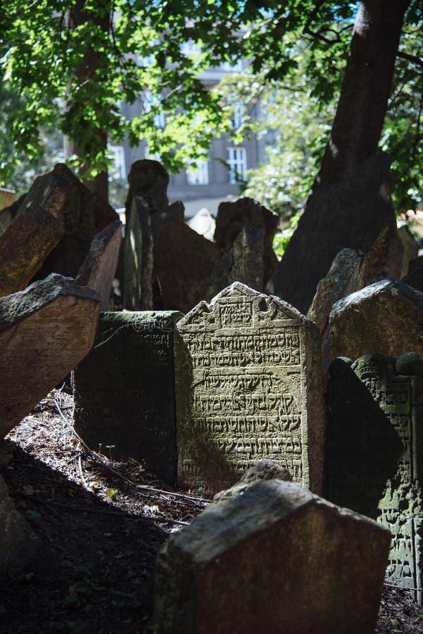 Cementerio judío viejo de Praga fotos de archivo libres de regalías