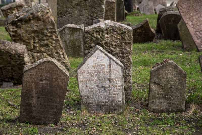 Cementerio judío viejo, Praga foto de archivo