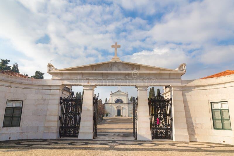 Cementerio Lisboa Portugal del DOS Prazeres de Cemiterio fotos de archivo