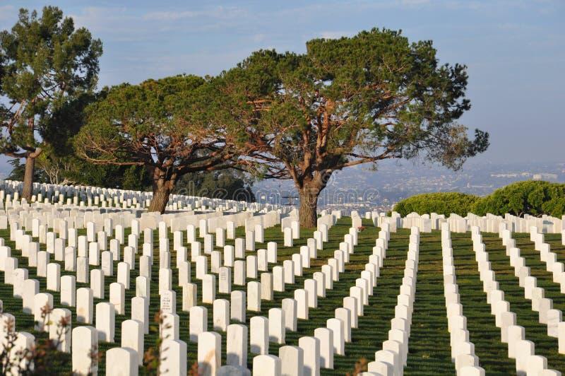 Cementerio militar de Estados Unidos en San Diego, California foto de archivo libre de regalías