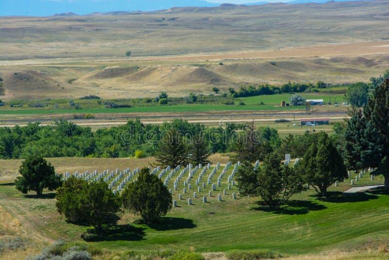 Cementerio militar en el Little Big Horn, SD fotos de archivo libres de regalías
