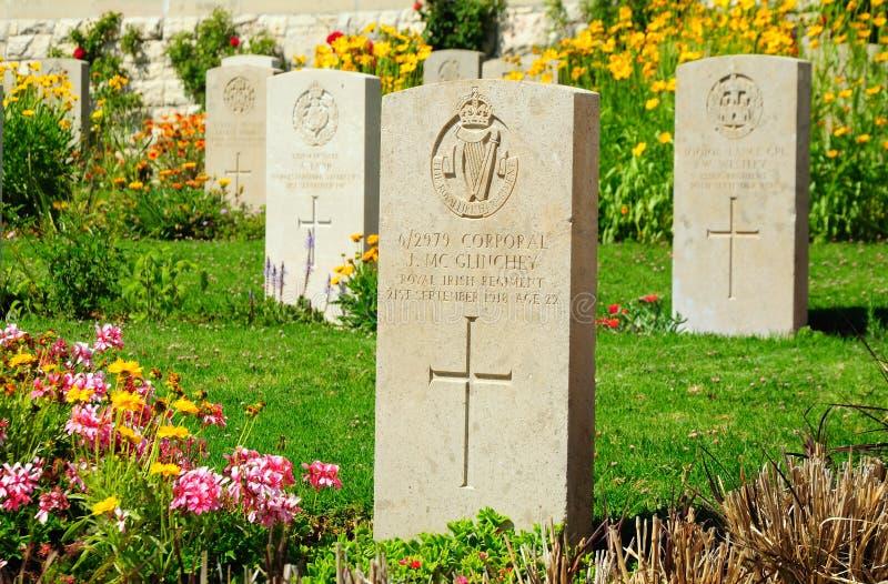 Cementerio militar. Jerusalén. foto de archivo