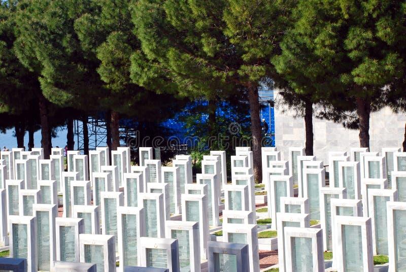 Cementerio Militar Turco Foto editorial