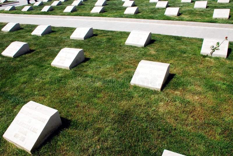 Cementerio Militar Turco Imagen de archivo editorial