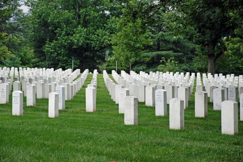Cementerio nacional de Arlington en Washington DC fotos de archivo libres de regalías