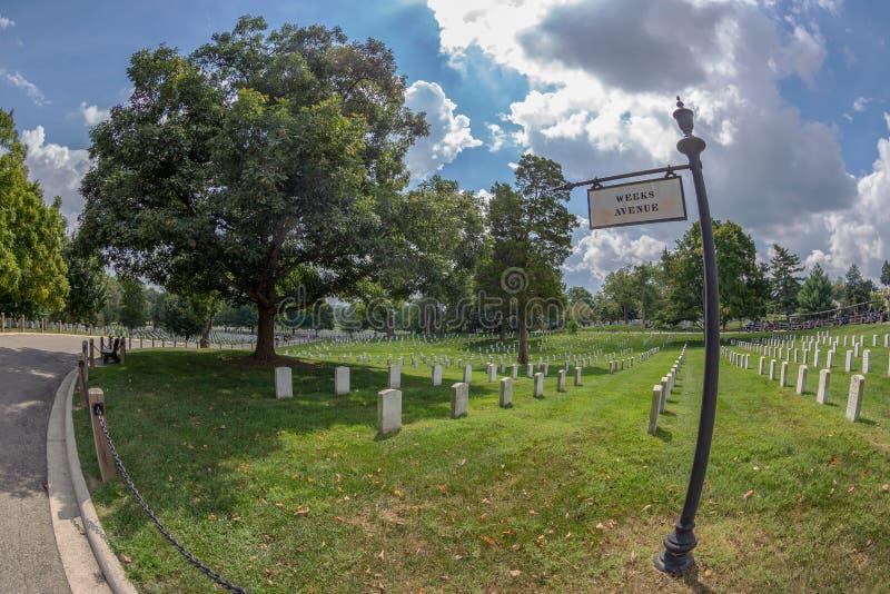 Cementerio nacional de Arlington, los E.E.U.U. foto de archivo libre de regalías
