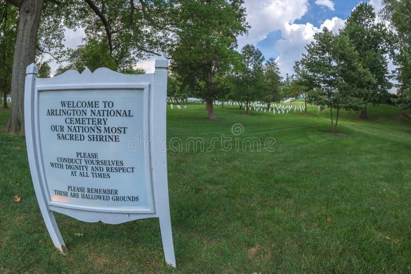 Cementerio nacional de Arlington, los E.E.U.U. imágenes de archivo libres de regalías