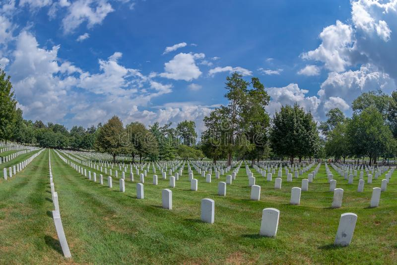 Cementerio nacional de Arlington, los E.E.U.U. imagen de archivo libre de regalías